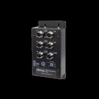 TGXPS-141GX-M12 EN50155 5-port unmanaged PoE Ethernet switch