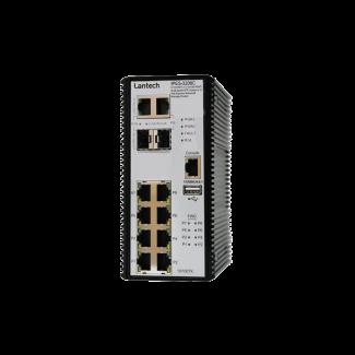 IPES-3208C - 10 port SFP, PoE managed switch