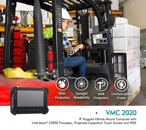 Heavy Duty Vehicle Computers: 8-inch VMC 2020 In-Vehicle Mount Computer